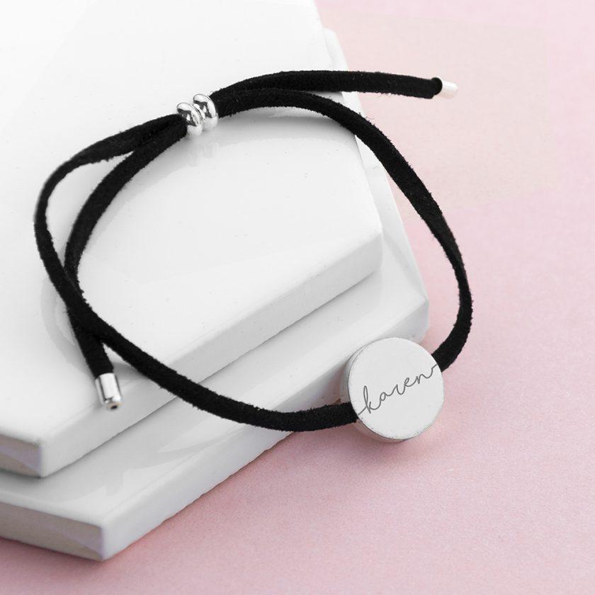 Personalised Always with You Name Black Bracelet 1