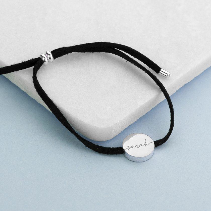 Personalised Always with You Name Black Bracelet 5