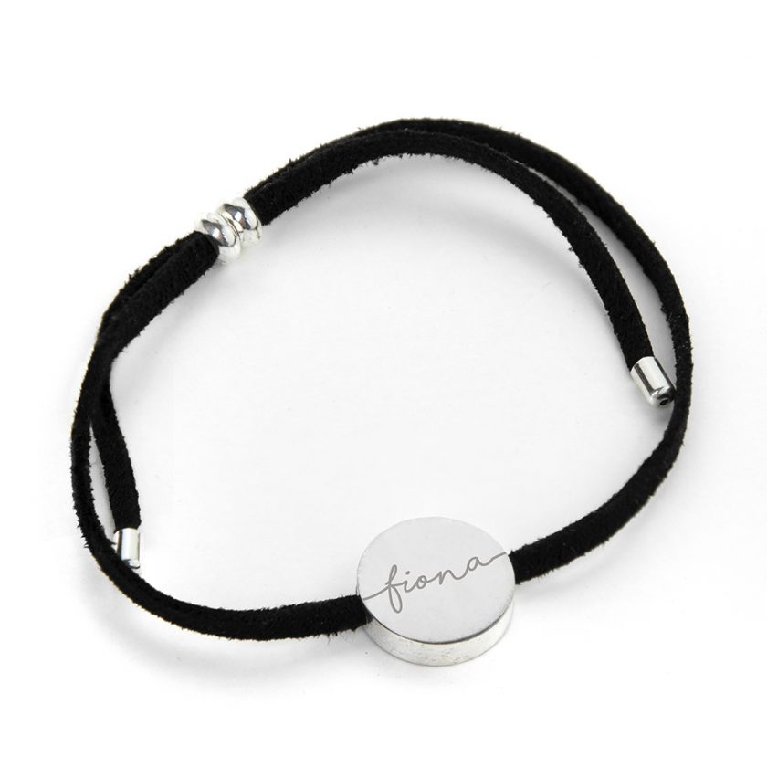 Personalised Always with You Name Black Bracelet 4