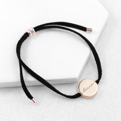 Personalised Always with You Name Black Bracelet 9