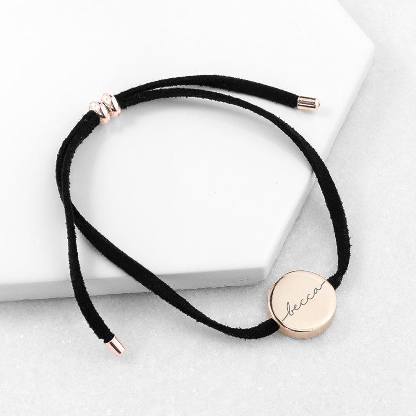 Personalised Always with You Name Black Bracelet 3