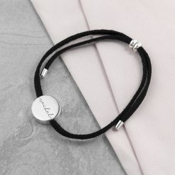 Personalised Always with You Name Black Bracelet 8