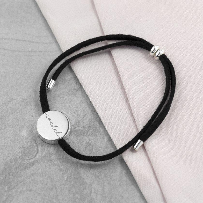Personalised Always with You Name Black Bracelet 2