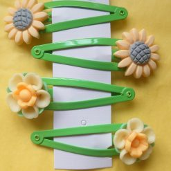Two sets of springtime hairclips