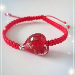 Heart Bracelets, Lampwork heart Bracelet
