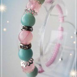 Amazonite and Rose Quartz Braided Bracelet