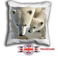 Polar Bear Cushion Cover, Two Polar Bear Cushion, 6 sizes, Handmade