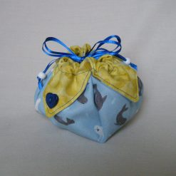 Reusable small drawstring gift pouch
