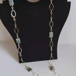 A beautiful Zebra turquoise necklace