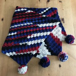 Stripey crochet blanket