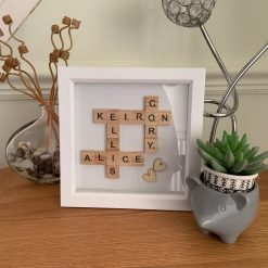 Personalised Family Scrabble Photo