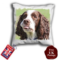 English Springer Spaniel Cushion Cover, English Springer Spaniel Cushion, English Springer Spaniel Pillow, 6 Sizes, Handmade
