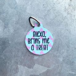 Pet ID Tag with Custom Text (Double-Sided)