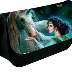 Personalised Bambi Zipped Pencil Makeup case School ds bag