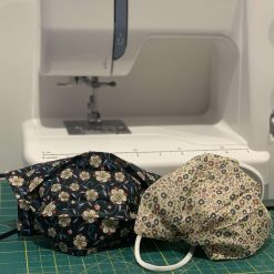 Liberty face mask: Soft Liberty London Tana Lawn cotton customisable, reversible triple layer face mask with nose wire and charity donation 5