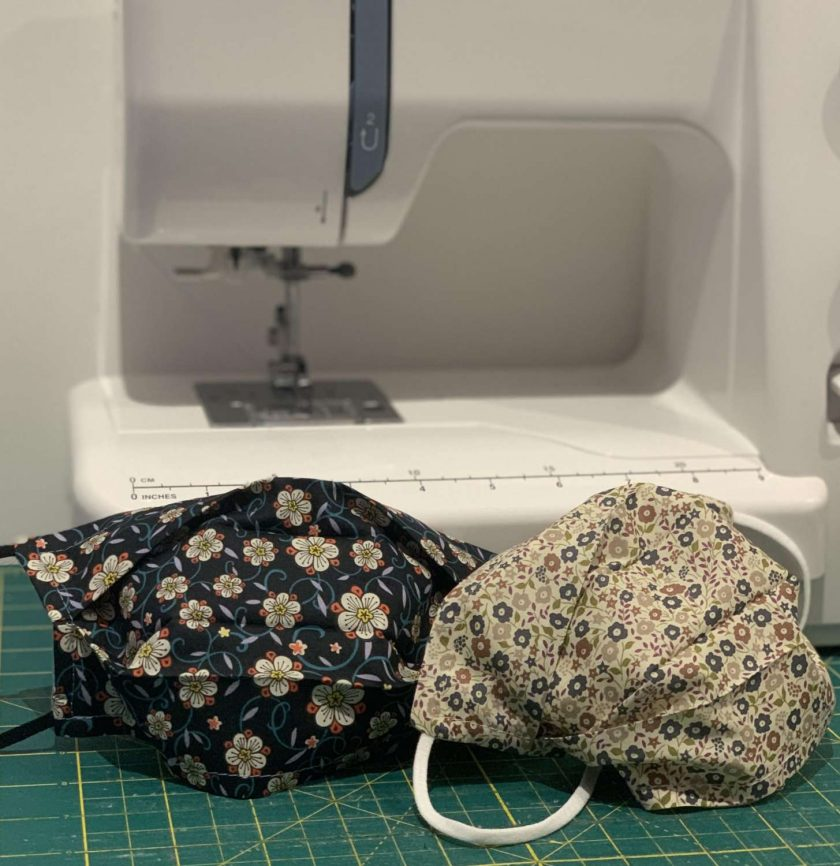 Liberty face mask: Soft Liberty London Tana Lawn cotton customisable, reversible triple layer face mask with nose wire and charity donation