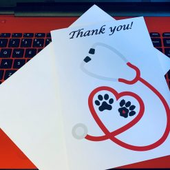 Vet Thank You card - red