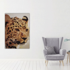 amur leopard thread painting. Artwork. Home decore 7