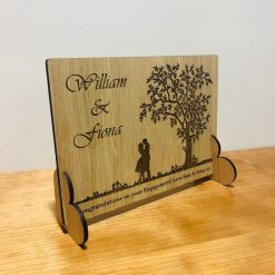 Personalised Valentine's Day / Engagement Congratulations Wooden Card