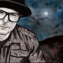 'Zak Bagans' from Ghost Adventures original watercolour and ink portrait