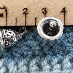 10 x  fairy on a moon Tibetan brass charm 2.5cm