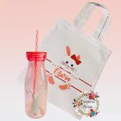 Personalised Easter Juice Bottle and Tote Bag Set