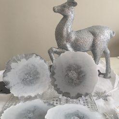 'Snowflake' Resin Coasters