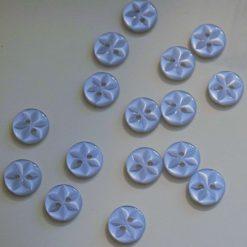 Buttons - 11.5mm Star Buttons - Blue