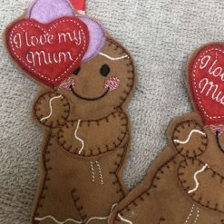 'I Love Mum' Gingerbread person - I love you Mum / Mam / Mom
