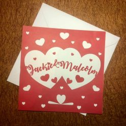 Personalised Red Valentines / love card / engagement card/ marriage card / romantic card / first valentines / hot lips card
