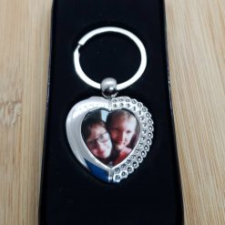 Photograph Heart Shape Key Ring Valentines Day Gift