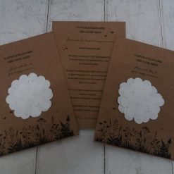 Wildflower seed paper Flower | A6 recyclable