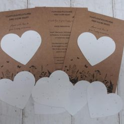 Wildflower seed paper Heart | A6 recyclable