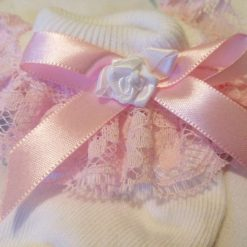 Frilly lace baby socks 0-6  months