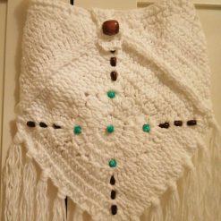 White Crochet hippie bag