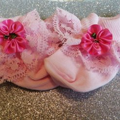Frilly Pink baby socks