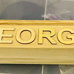 Personalised wooden trinket box pencil case