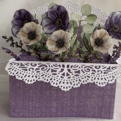 Boxed Handmade Card flowers in a box style