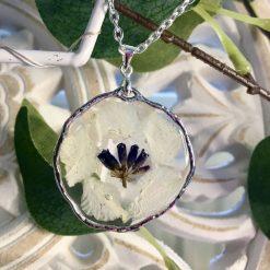 White Petal Pendant Necklace