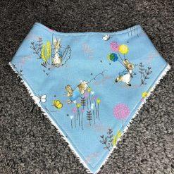 Peter rabbit blue print baby dribble bandana bib