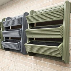 wooden 3 tired planter/handmade Hanging planter/ wall mounted planter/ decking planter/ Herbs / Flower /strawberries planter