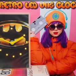 Batman Retro Original Backlit LED VHS Clock