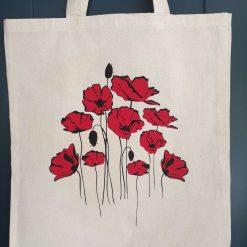 Poppies Tote Bag large