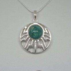 Cremation ash pendant