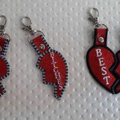 Heart friendship key rings