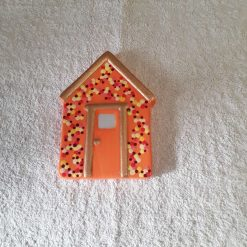 Beach hut ceramic fridge magnets in orange(Copy)