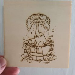 colour your own coaster/wall art