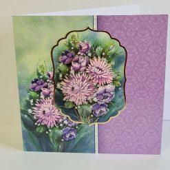 A stunning multi layered flower card