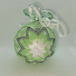 Green / grey floral hanging ornament