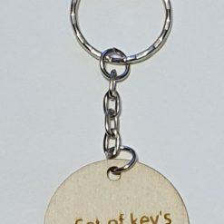 Wooden key ring set of key number
